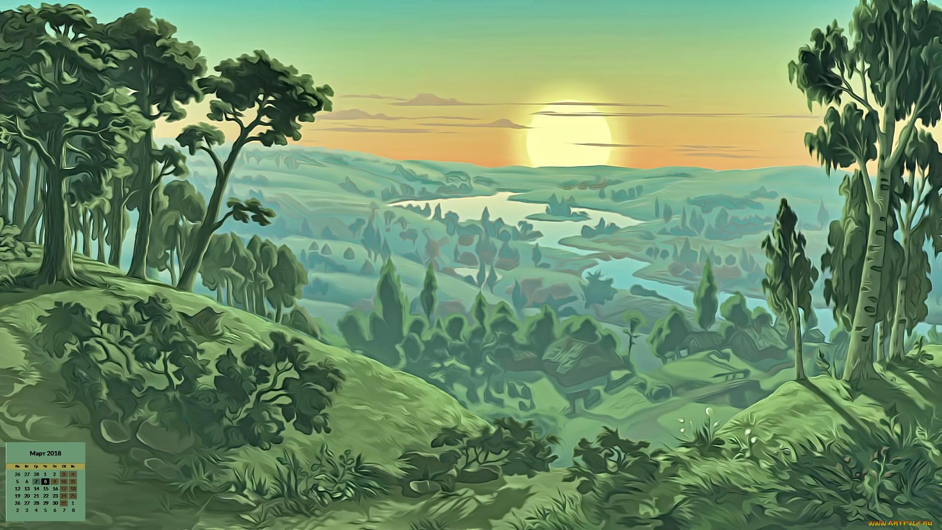 Картинки пейзажи из мультфильмов